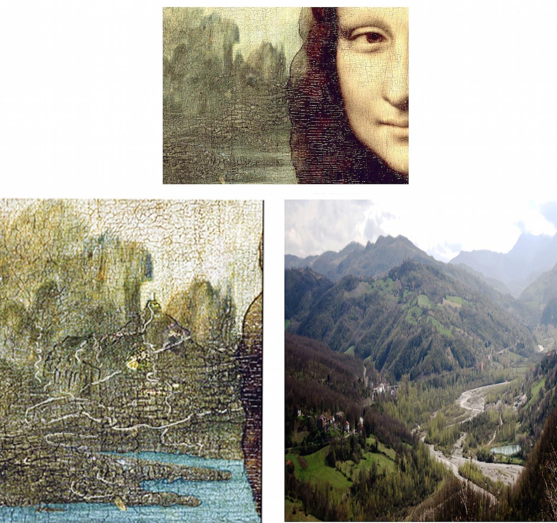 MONTEFELTROcomparazione-colle-di-Bascio-con-la-torre-sulla-cima I Paesaggi della Gioconda sono nel Montefeltro!